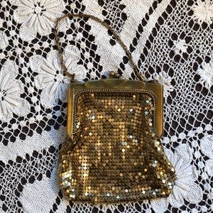 Handbags - Vintage Gold Metal Mesh Evening Bag